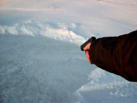 Proiettile sparato sul ghiaccio: Vero o falso?
